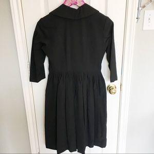 Vintage Dresses - USA Made Vintage Wool Faux Wrap Pleated Dress!